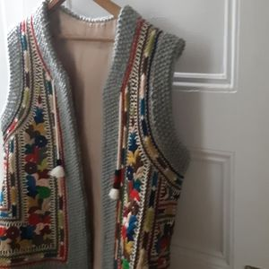 Vintage Hand Embroidered Romanian vest